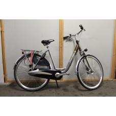 Max 2 Bike 28 dames kleur Grijs/bruin 57 cm 7 versnellingen en handremmen